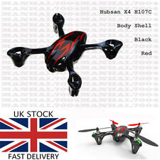 Hubsan X4 H107C Body Shell black red - Spare Parts for Quadcopter Drone UK new