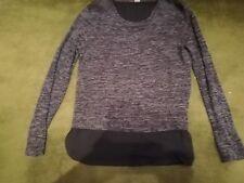 Pulli Shirt BLUSE Shirt 2in1 Optik grau-meliert. S. Oliver Grau. 36
