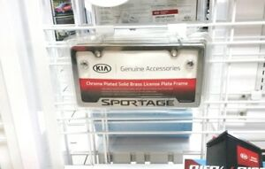Kia Sportage Chrome License Plate Frame UR010-AY100KM OEM 50 State Certified!