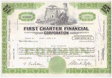 Aktie USA Stock Wertpapier First Charter Financial Corporation -- 1977
