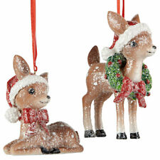 "Raz Imports 4.25"" Vintage Reindeer Ornament Set"