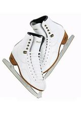 New Riedell model 30 ice Figure Skate Size 1 1/2 Wide Blade Sheffield Club 2000