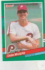 FREE SHIPPING-MINT-1991 Donruss #484 Dale Murphy Philadelphia Phillies Baseball