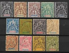REUNION : SERIE COMPLETE TYPE GROUPE N° 32/44 OBLITERATIONS LEGERES - COTE 210 €