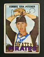 Tommie Sisk Pirates Signed 1967 Topps baseball card #84 Auto Autograph