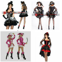 Lady Fancy Dress Pirate Deluxe Costume  Party Dress SIZE 8-10 UK Halloween Dress