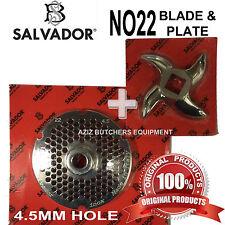 Salvador no22, 4,5 mm TRITACARNE macinazione PIASTRA E TRITACARNE BLADE Knife. 100% autentico.