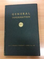 General Information – W T Henley's Telegraph Works Co., Ltd – 9th Edition 1950