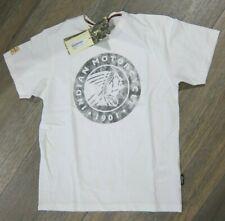 INDIAN Motorcycle Herren Shirt weiß mit großem Logo Mens Icon Logo Tee Gr. XL