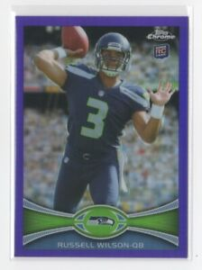 2012 Topps Chrome RUSSELL WILSON /499 Rookie Purple Refractor RC #40 SEAHAWKS!