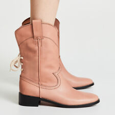 See By Chloe Annika Western Leather Boots in Sierra Size 38