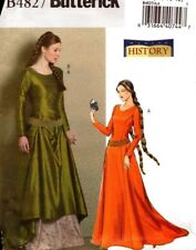 Butterick Sewing Pattern B4827 4827 Making History Medieval Dress Costume 14-20