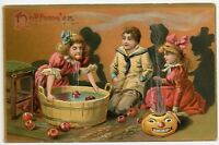Halloween Games Raphael Tuck Embossed Vintage Postcard