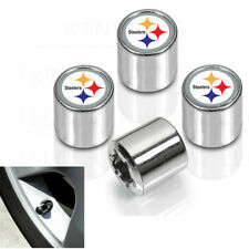 New NFL Pittsburgh Steelers Car Truck Plastic Chrome Finish Tire Valve Stem Caps