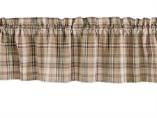 """Park Designs Unlined Country Window Valance 72""""x14"""" THYME Tan, Wine, Green Ivory"""