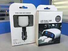 Dual USB Auto Ladegerät Zigarettenanzünder Voltmeter Auto 2,4 A  12v 24v