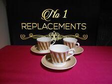 3 x Royal TUSCAN contrappunto caffè tazze e piattini