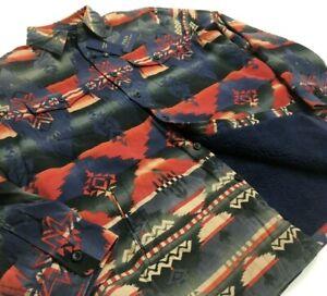 Polo Ralph Lauren Sherpa Southwestern Aztec Navajo Indian Tribal Shirt Jacket XL