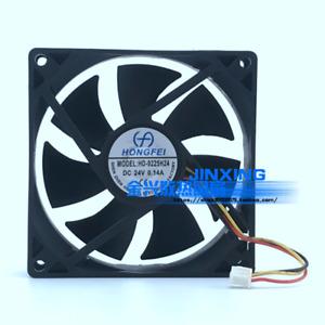 HONGFEI HD-9225H24 9025 9CM 90mm*25mm DC24V 0.14A 3-wire inverter cooling fan