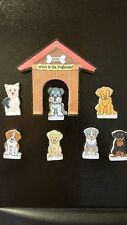 Who's in the Doghouse? Family of 7 Unique Miniature Refrigerator Magnet Set USA