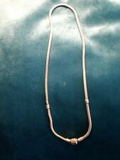 Pandora silver chain necklace 16 inches long, will hold Pandora charm beads.