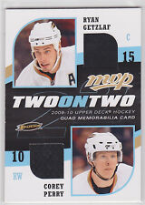 2009 09 09-10 Upper Deck MVP Two on Two Jerseys Getzlaf/Perry/Thornton/Setoguchi