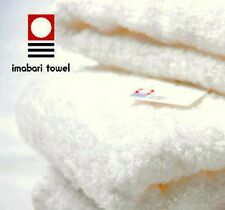 NWT Japanese IMABARI Wash Towel/White/Bamboo Cotton /33x36cm/Bathroom/FREE Ship!