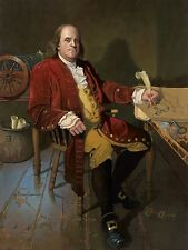 """Ben Franklin: Patriot and Renaissance Man"" Dean Morrissey Masterwork Canvas"