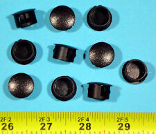 "10 Black Nylon HOLE PLUGS 9/16""  Locking Rigid Plug push-in round 10 pcs. flush"
