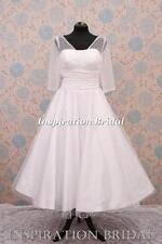 1340 short tea length knee wedding dresses Sleeved polka dot size 8 10 12 14 16