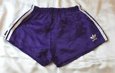 Adidas Glanz Nylon Shorts, Größe D5, violett/weiß (extrem selten), Zustand gut