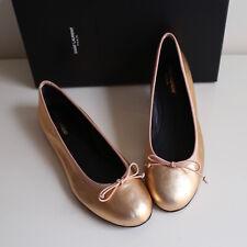 NEW YVES SAINT LAURENT Shoes Sz 37 (US 7) Dance Leather Ballet Flat Blush