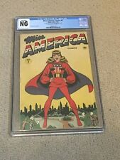 New ListingMiss America Comics 1 Cgc Ng (Classic Timely Comics 1944-Rare!) + magnet