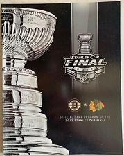 2013 STANLEY CUP FINAL PROGRAM BOSTON BRUINS CHICAGO BLACKHAWKS NHL CHAMPIONS