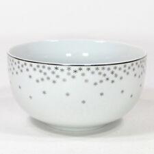 "Target ARCTIC SOLSTICE 24oz Soup 5.5"" Bowl Silver Snowflake White Porcelain"