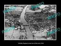 OLD LARGE HISTORIC PHOTO OF BEWDLEY ENGLAND, AERIAL VIEW OF THE TOWN 1930 1