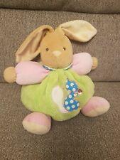 Kaloo Chubby Bunny Rabbit Green Pink Teddy Baby soft toy comforter Doudou Rattle