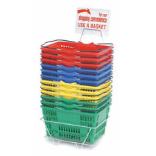 Assorted Grocery Shopping Baskets Plastic Set of 12, 99726