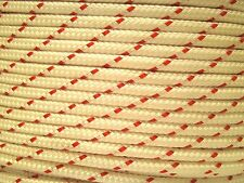 """1/4"""" x 100' RED Tracer Double Braid 100% Polyester Rope Line 140LB WORKING LOAD"""