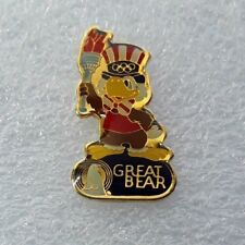 "1984 La Olympics Laooc Sponsor Pin ""Sam The Eagle - Great Bear Water"" Only 1500"
