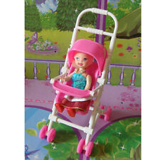 Kids Mini Stroller Toy Buggy Pram Pink Pushchair Stroller For Baby Dolls New