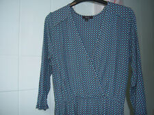 Therapy Blue Patterned Aline Dress Work Office suit 12 M Medium Soft Jersey Tall
