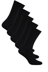 Men Black Suits Cotton Plain Socks 5 Packs (UK sizes 5.5 - 11) by Aurellie