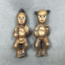2X Phra LP Tae Voodoo Doll  Magic Kuman Thong Child Boy Girl Shaman Thai Amulet