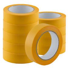 6 Rollen Goldband PLUS je 25mm x 50m Fineline Maler Abdeck Klebeband Krepp Tape