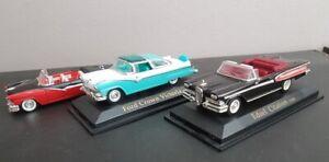 VITESSE  3 voitures miniatures 1/43 belles Américaines FORD et EDSEL années 1950