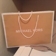 "MICHAEL KORS paper shopping bag GIFT TOTE XLARGE   19"" X 15""  WHITE rope handles"