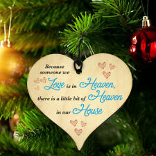 #783 Memorial Xmas Gift Novelty Plaque Love in Heaven Hanging Funny Wood Heart