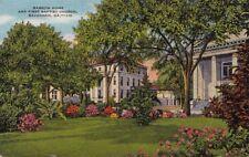 Postcard Barrow Home First Baptist Church Savannah GA