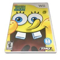SpongeBob's Truth or Square (Nintendo Wii, 2009) Complete Tested